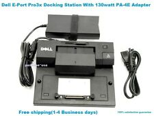 Genuine Dell Latitude E Port Pro3x Docking Station With Genuine PA 4E Adapter.