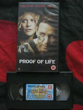 PROOF OF LIFE VHS VIDEO. EAN: 5014780189966. Cert.15. Crowe, Ryan, Caruso, Morse
