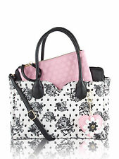 Betsey Johnson Dip Removable Pouch Satchel Bag - Floral