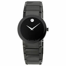 New Movado Sapphire PVD Black Bracelet Mens Watch 0606307