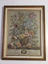"FLORAL FLOWERS WALL ART MADE IN CANADA FOR THE BOMBAY COMPANY MAY - 14"" X 18"""