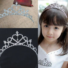 Lovely Diamante Tiara Hair Band Heart Tiara Crown Headband Kids Bridal Gift