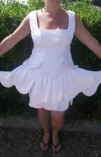 white flower fairy fully lined quality outfit.. can be custom made ladies 12-14