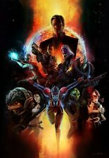 POSTER MASS EFFECT GAME SHEPARD KIRRAE MOREAU PS3 XBOX 360 2 3 N7 N 7 PC PS #1