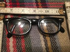 Vintage American Optical Arnel Style  in Black with Spear Shields 40-22 5 1/4