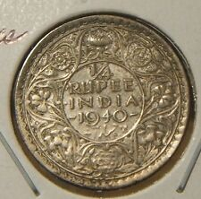 1940~~BRITISH-INDIA~~1/4 RUPEE~~XF-AU~~SILVER BEAUTY