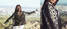 ZARA SIZE S HAND MADE ETHNIC EMBROIDERED BEADS JACKET JACKE STICKEREI PERLEN