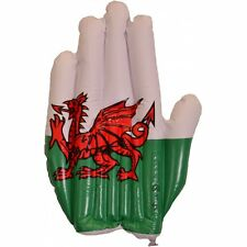 BRAND NEW 21' INFLATABLE BLOW UP WELSH FLAG HAND NATIONAL WALES CYMRU ST DAVIDS