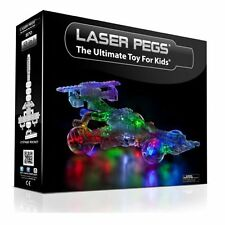 Laser Pegs 870 Lighted Construction Set 12 in 1 Indy Car Rocket Submarine NEW