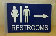 Restroom  2D Projection Wall Mount Arrow Right Directional Business Sign S2D405