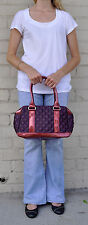 MARC JACOBS Quilted Satin Bowler Bag Speedy DK Purple