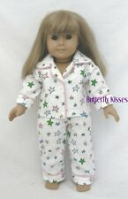 Flannel Pajamas Stars Doll Clothes Made For 18 inch American Girl Doll McKenna