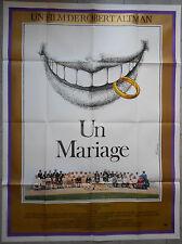Affiche UN MARIAGE A Wedding ROBERT ALTMAN Carol Burnett 120x160cm .