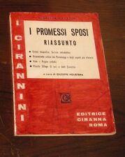 I PROMESSI SPOSI - Riassunto - Ciran editore - di G Polistena - 1978 - pag 190