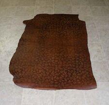 (JBE5809-2) Brown Heavy Weight Embossed Leather Skin Hide