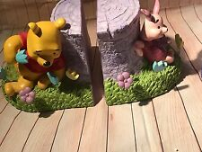 Winnie-the-Pooh Bookends  Stump Pooh Piglet NEW