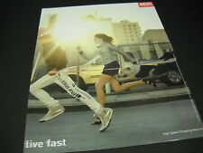 DIESEL High Speed Shopping LIVE FAST 2007 Promo Display Ad mint condition