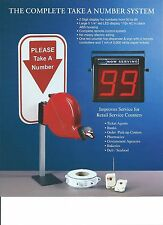 Complete Take-A- Number system,2 Controlers,Sign,Red Dispenser,Free ship