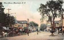 1909 Stores Main St. Riverhead LI post card