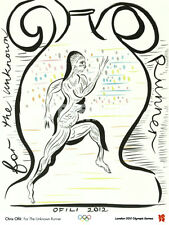 London 2012 Olympics FOR THE UNKNOWN RUNNER by Chris Ofili Running POSTER Print