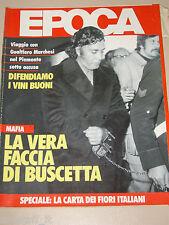 EPOCA=1986/1855=TOMMASO BUSCETTA=ORESTE DEL BUONO=PAGEB '86 PASTICCERIA TORINO=