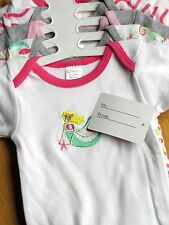 BABYKISS Size 0-3 Mo NEW Baby Girls 5 Pack Bodysuits Pink Gray Multi-color