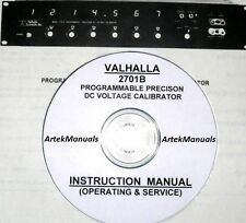 Valhalla 2701B DC Voltage Calibrator Operating & Service Manual