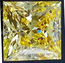 3 ct  Princess Canary Top Russian Quality CZ Extra Brilliant  8.25 x 8.25