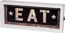 Country new LED wood w/stars wall sign / EAT / nice kitchen decor
