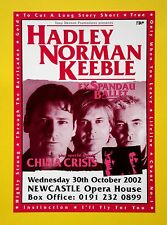 Tony Hadley/Spandau Ballet 'Hadley Norman Keeble' Newcastle 2002, A5 tour flyer