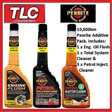 Penrite 10000km Service Pack Engine Flush Total System Clean & 3x Injec...