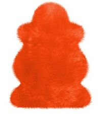 Australisches Merino-Lammfell, orange, 100cm, Heitmann Fell