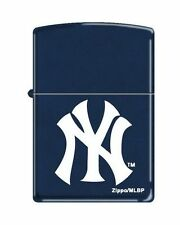 "Zippo ""New York Yankees"" Logo Lighter, Navy Blue Matte, 8260"