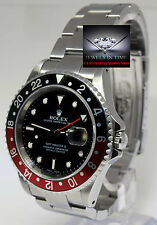 Rolex GMT-Master II Coke Black/Red Bezel Steel Mens Watch & Box P 16710