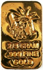 GOLD 2/3 GRAM 24K PURE GOLD BULLION BAR 999 FINE PURE GOLD F17A