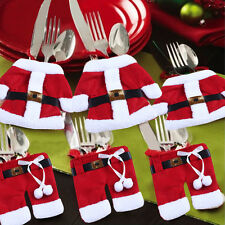 Pop Happy Santa Claus Tableware Silverware Suit Christmas Dinner Party Decor Set