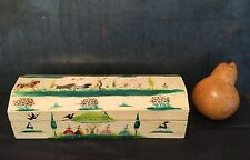 Vtg Signed SALVADOR CORONA Box folk art painting listed Mexican-American Matador
