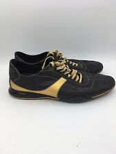 COLE HAAN Nike Air Estadio Lace Up Black/Gold Leather Shoes Mens Sz 10 M