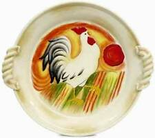 """CHANTECLAIR"" ROOSTER DEEP PLATTER WITH HANDLES BY FITZ AND FLOYD"