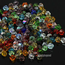 360Pcs/Lot Exquisite Glass Crystal 4mm Bicone Beads Loose Beads Multi-color New