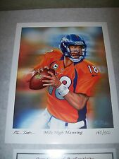 Peyton Manning Denver Broncos poster picture 8 by 10 art print lithograph