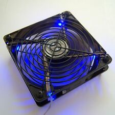 120 mm PC Cooling Fan USB 5V Power Blue LED Fan Guard Protector Silent Quiet F34