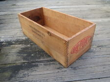 Dupont 25 lb Monobel Dynamite Dovetailed Wood Box