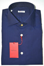 NEW 2016 KITON SHIRT 100% COTTON  18 US 45 EU 554205