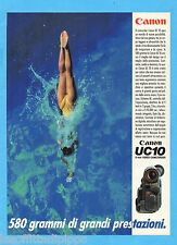 QUATTROR992-PUBBLICITA'/ADVERTISING-1992- CANON - UC10 8mm VIDEO CAMCORDER