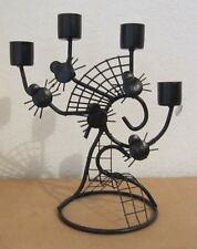 Black Widow Spider Web Candelabra Halloween Haunted House Spiderweb Candleabra