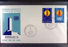 Cyprus 1968 FDC 305-06 Union Europa Cept Human Rights