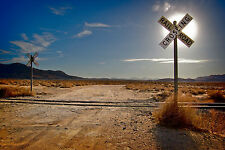 Framed Print - Railroad Crossing Deep in the Arizona Desert (Picture Poster Art)