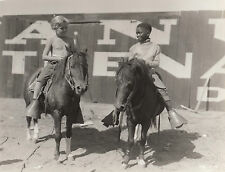 Photo originale Jackie Cooper Jesse Scott The Champ tournage chevaux