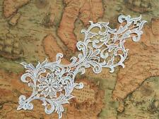 Sew on Embroidery Applique Ivory Lace Wedding Motif Bridal Applique Trim 1 Piece